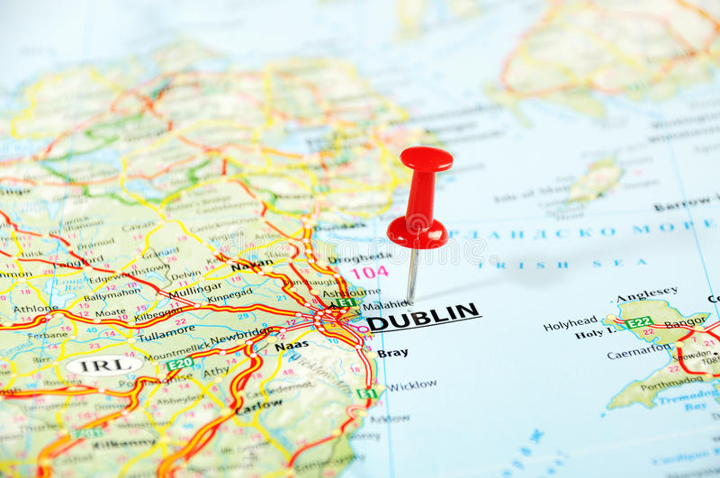 dublin ireland united kingdom map pin travel concept 44959691